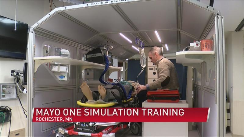 New Mayo One team trains in the simulator