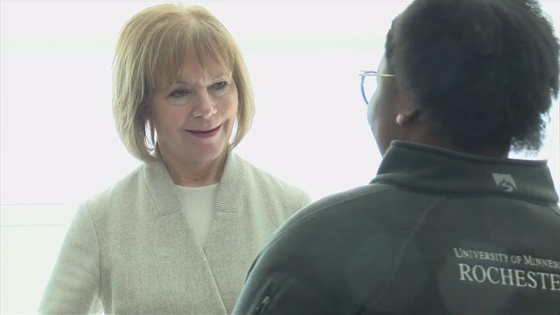 Former DMCC Board member Senator Tina Smith visits One Discovery Square