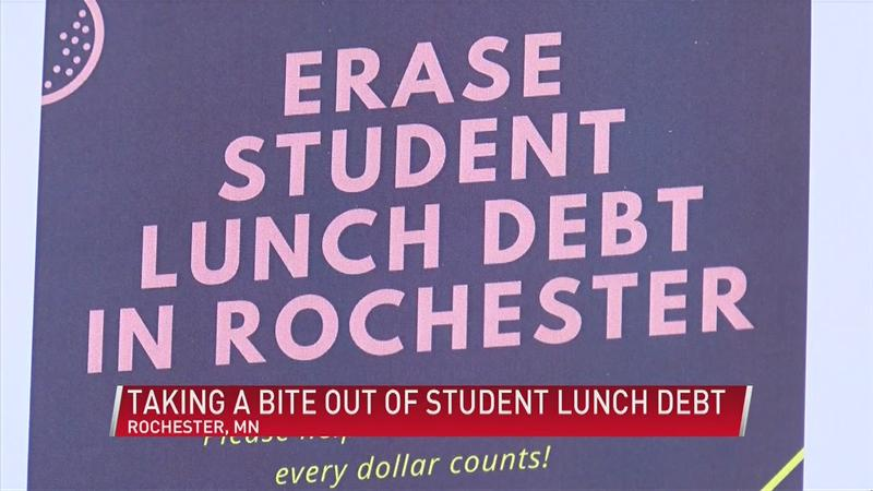 Raising money to end school lunch debt in Rochester