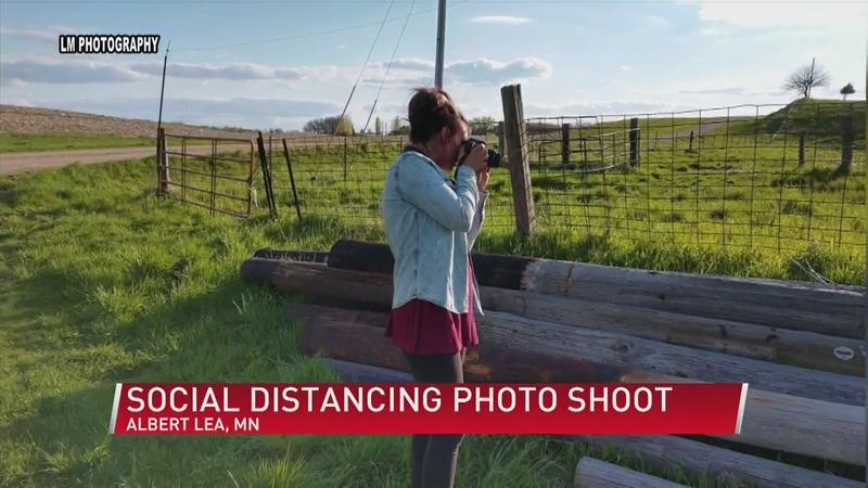 Albert Lea photographer organizes social distancing photo shoot