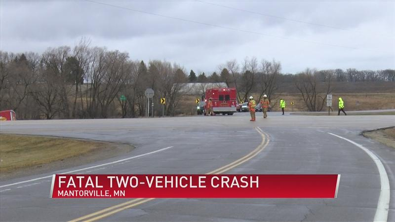 Fatal two-vehicle crash in Mantorville late Sunday morning