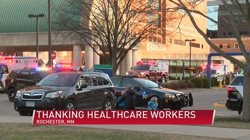Parade honors healthcare workers amid pandemic