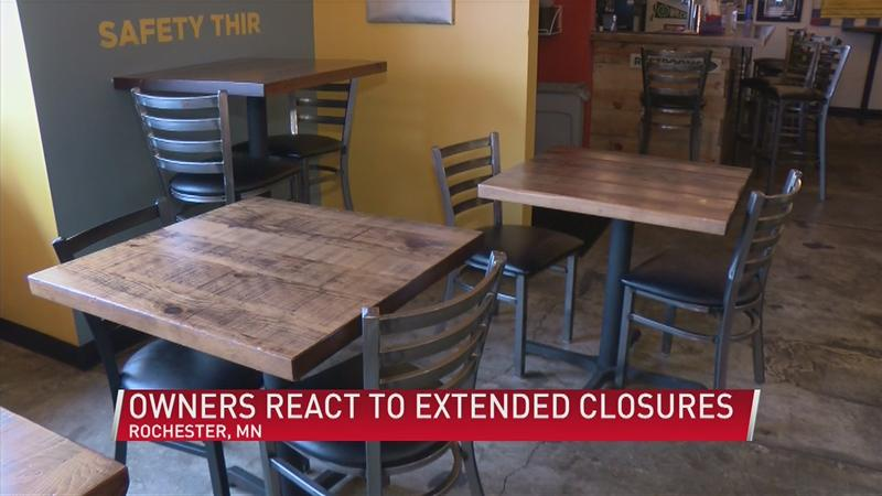 Restaurant, brewery owners react to extended dine-in closures