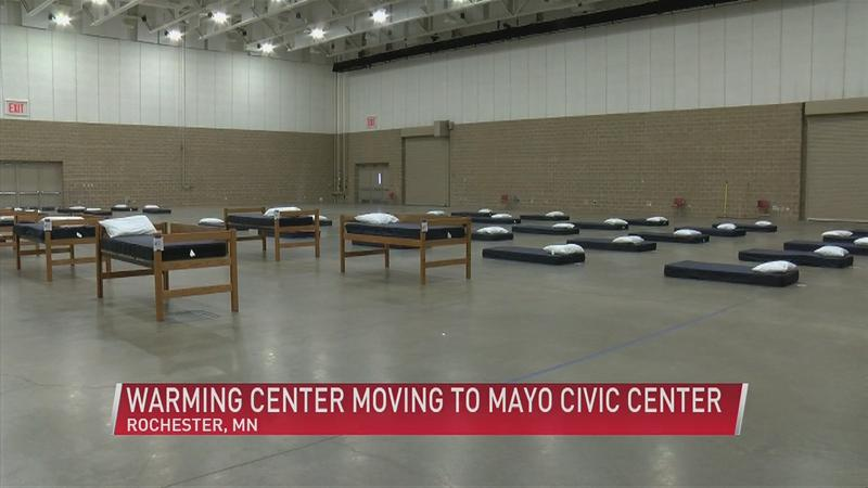 Warming Center relocated to Mayo Civic Center