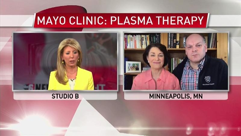 VIDEO: Sen. Klobuchar and her husband on donating plasma for COVID-19 patients