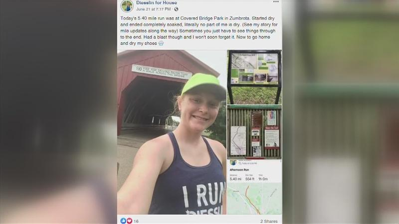 VIDEO: Elgin woman running across SE MN for your vote