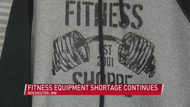Fitness equipment shortage continues