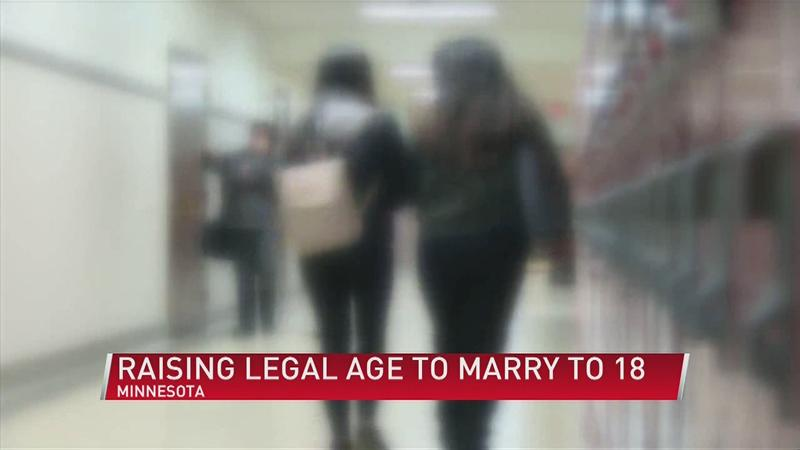 Legal  age to marry in MN raised to 18
