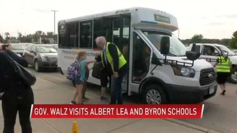 Gov. Walz visits Albert Lea High and Byron Primary Schools