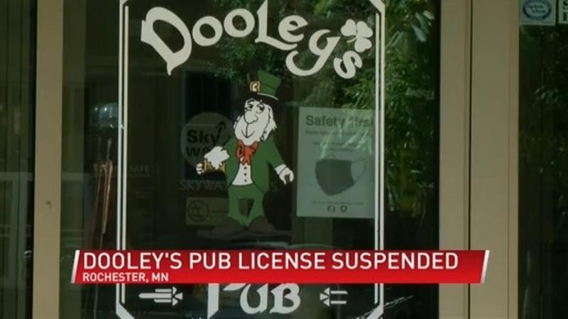 Health officials suspend license at Dooley's Pub after multiple COVID-19 violations