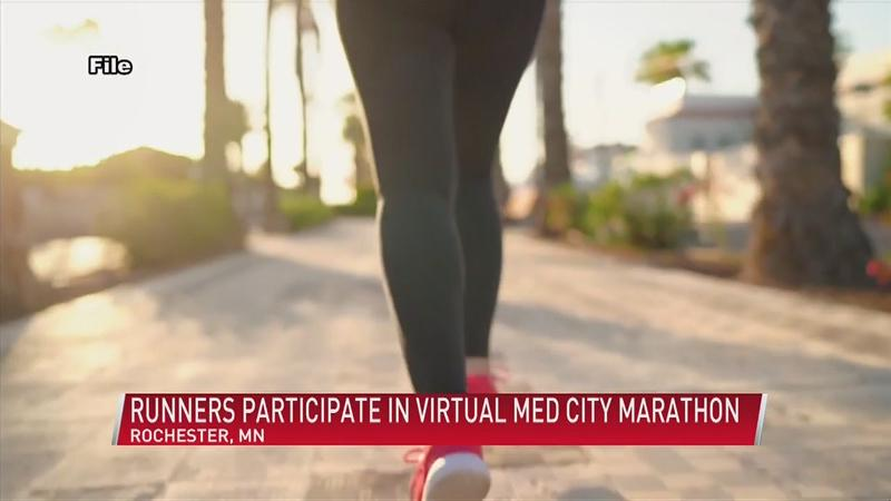 Hundreds of runners take part in the virtual Med City Marathon