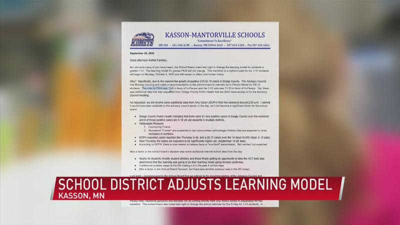 Kasson-Mantorville students switch to hybrid model