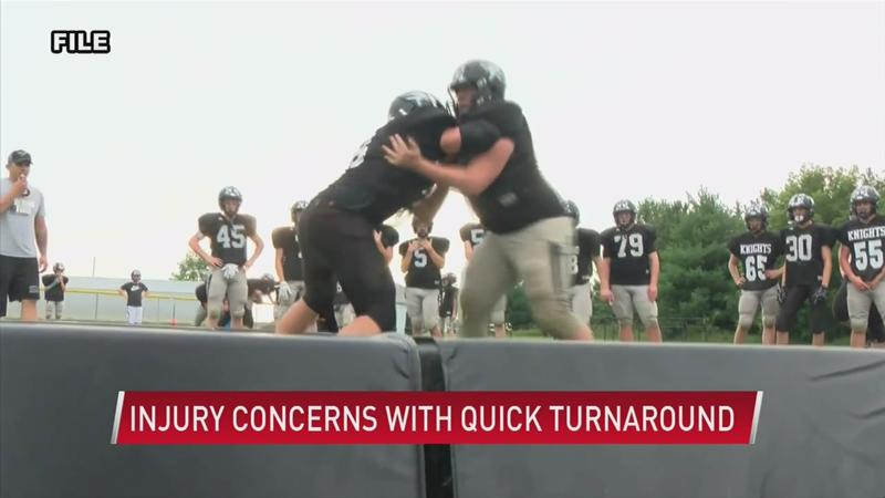 Quick volleyball, football turnarounds pose injury concerns