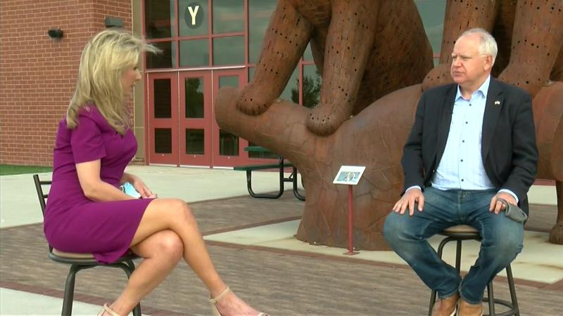 VIDEO: Governor Walz one on one interview in Byron