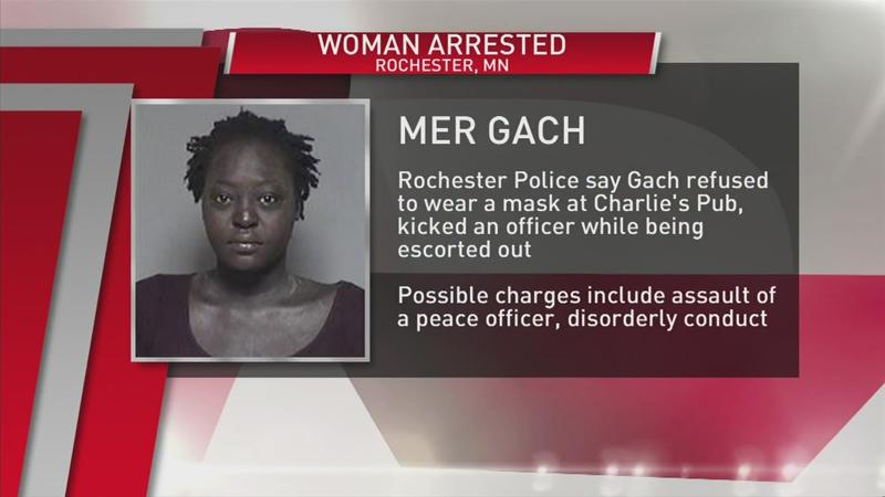 Woman arrested for refusing to wear mask, assaulting an officer