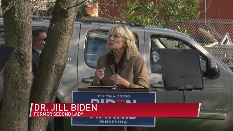 Jill Biden visits Rochester to honor essential workers
