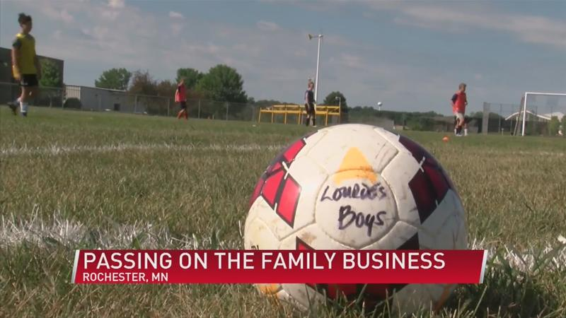 Lourdes soccer: Passing on the family business