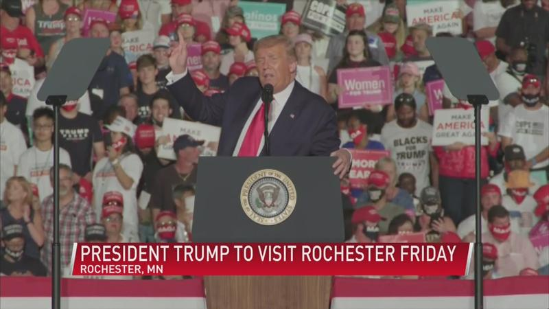 President Trump's campaign discusses Rochester visit, Minnesota DFL responds