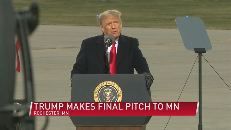 Trump makes final pitch to MN voters after narrow loss