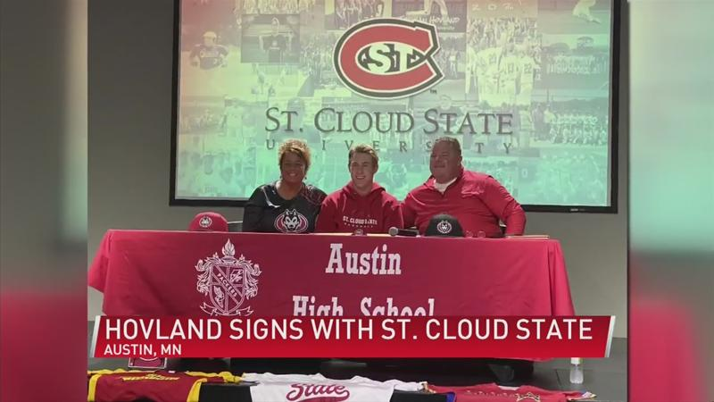 Austin's Hovland signs NLI with St. Cloud State