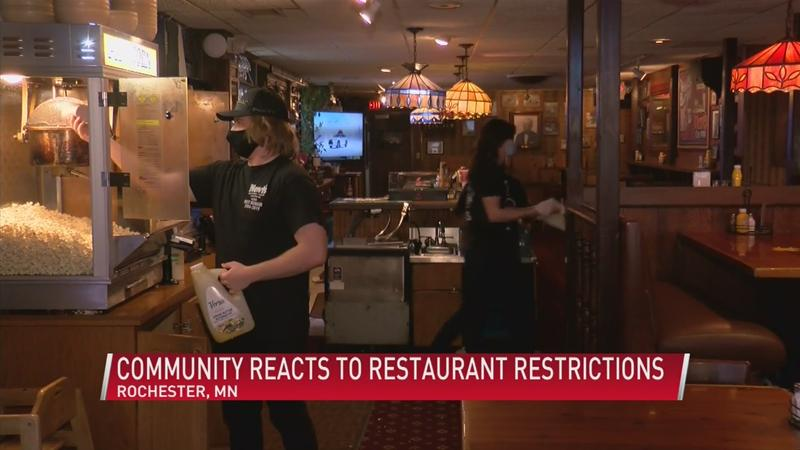 Community reacts to restaurant restrictions