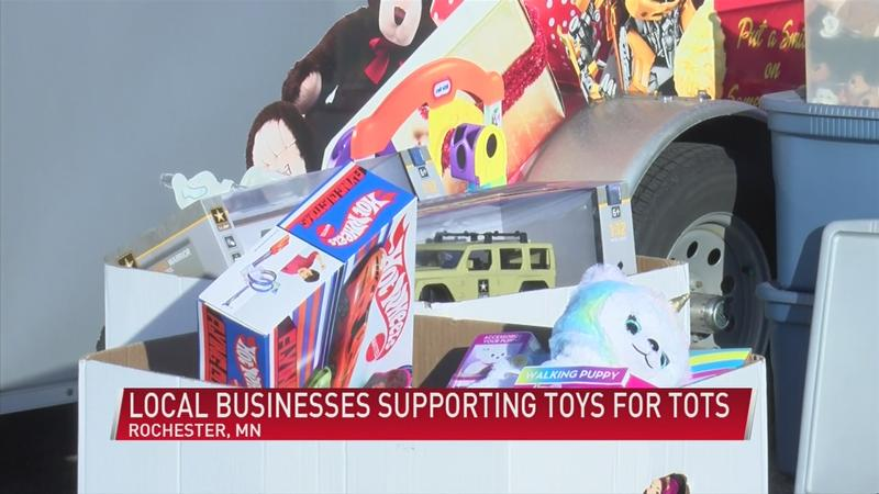Local businesses supporting Toys for Tots campaign