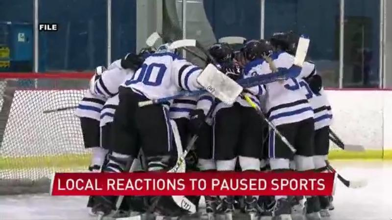 Local reactions on paused sports