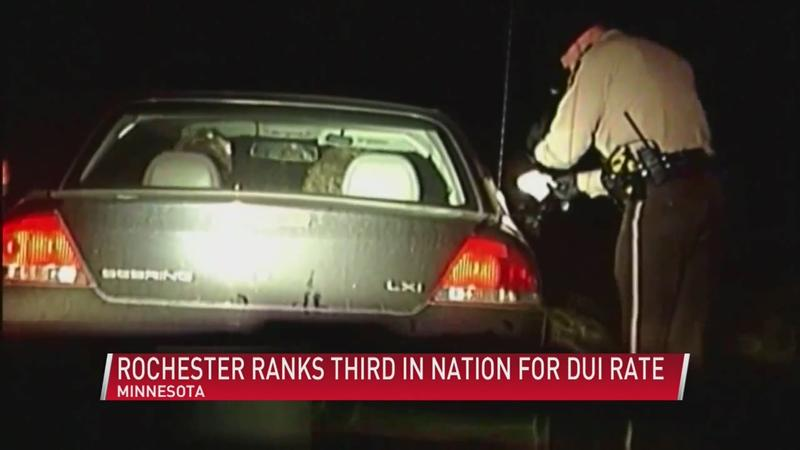 New study ranks Rochester third in the nation for DUI rate