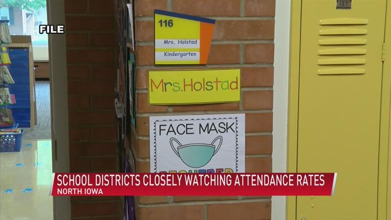 North Iowa school districts closely watching attendance rates