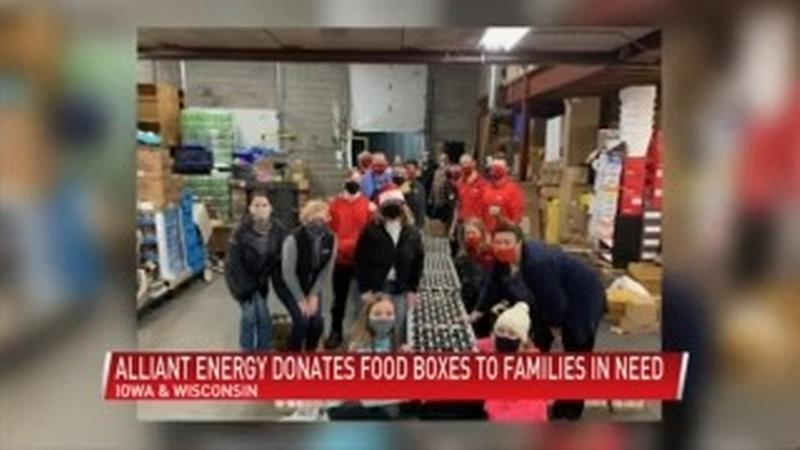 Alliant Energy donates holiday food boxes to families in need