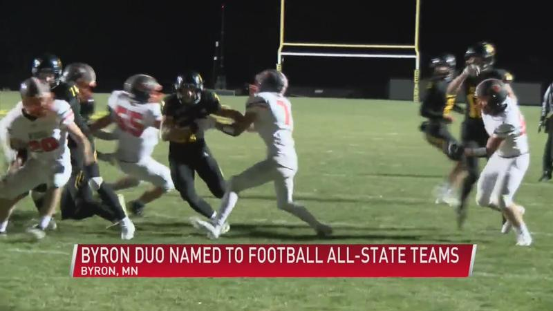 Byron duo named to football All-State teams
