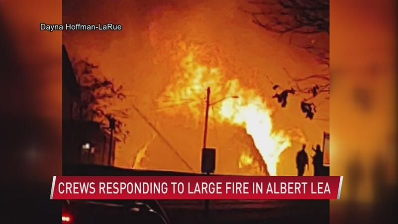 Crews put out large Albert Lea warehouse fire; evacuated neighbors react |