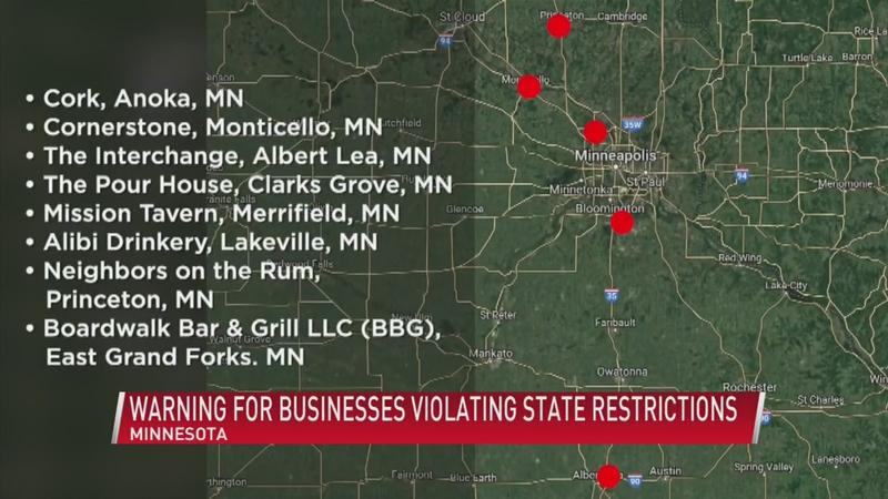 Several bars, restaurants face penalties and possible legal trouble after defiance of order