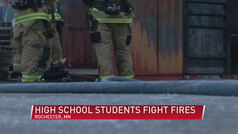 Area high school students complete their first course in becoming firefighters