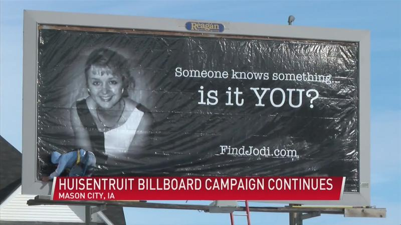 Huisentruit billboard will remain in Mason City for another year