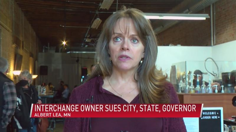 Interchange owner sues city, state, governor