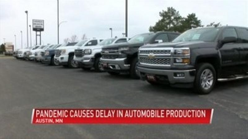 Delayed production of automobile parts causing car shortage