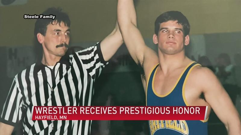 Hayfield wrestler inducted into Bartelma Hall of Fame