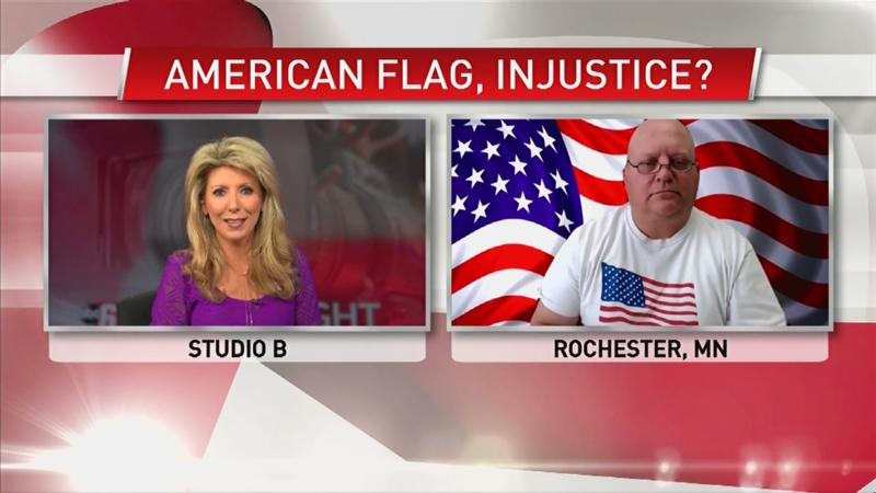 VIDEO: Controversy surrounding the American flag