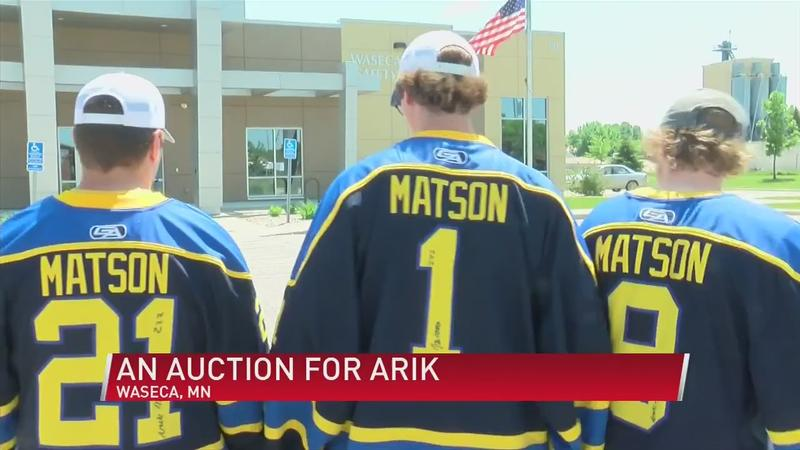 An auction for Arik: Hockey jerseys with a purpose