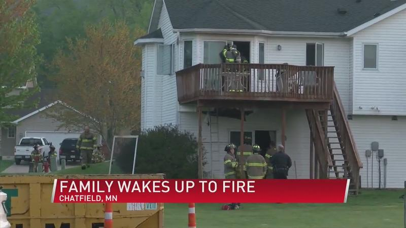 Chatfield family safe after deck caught fire
