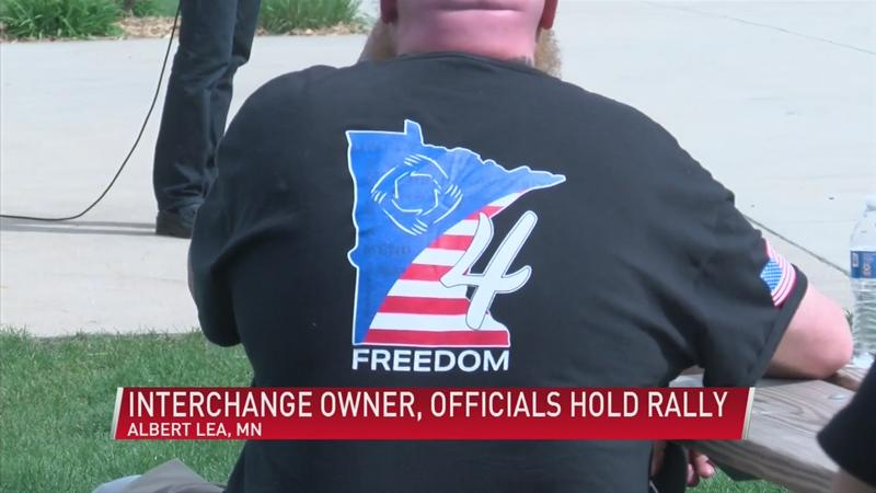 The Interchange owner speaks out, holds rally in Albert Lea