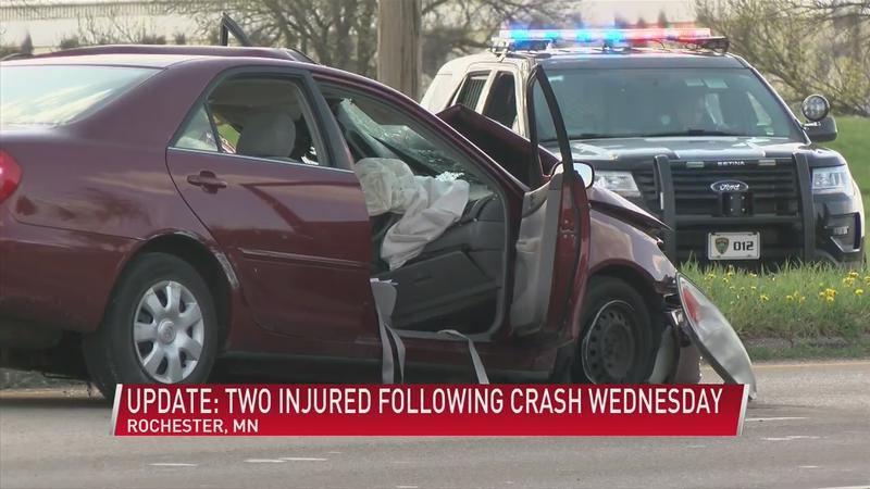 UPDATE: Two injured following crash Wednesday in NW Rochester