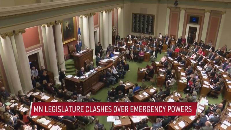 MN legislature clashes over governor's emergency power