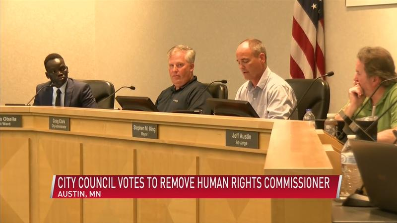 Austin city council members discuss vote removing Human Rights Commissioner