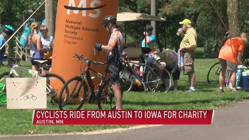 Cyclists ride from Austin to Iowa for charity
