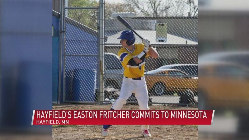 From small-town ball to Big Ten: Hayfield's Easton Fritcher commits to Minnesota
