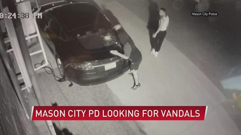 CAUGHT ON CAMERA: Car vandalized, police looking to identify suspects