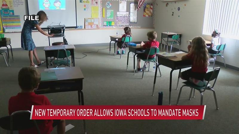 New temporary order allows Iowa schools to mandate masks
