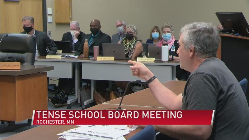 Rochester Public School Board meeting goes into recess amid masking disputes